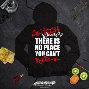 SWEAT ZIP SWITCH RIDERS THERE IS NO PLACE YOU CANT RIDE